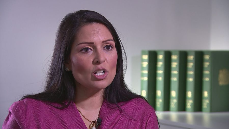 Priti Patel defends PM after being branded 'racist' at Brits