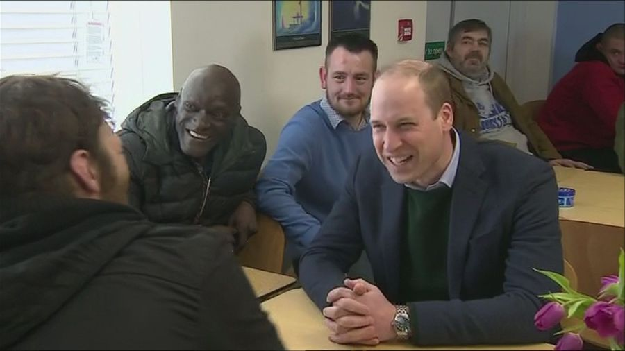 Duke of Cambridge visits homeless project in Mansfield
