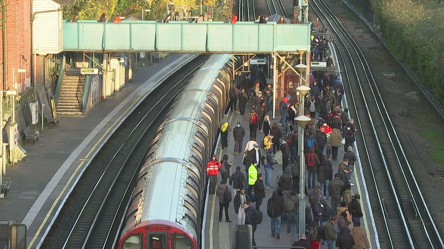 North Acton station busy for second day running