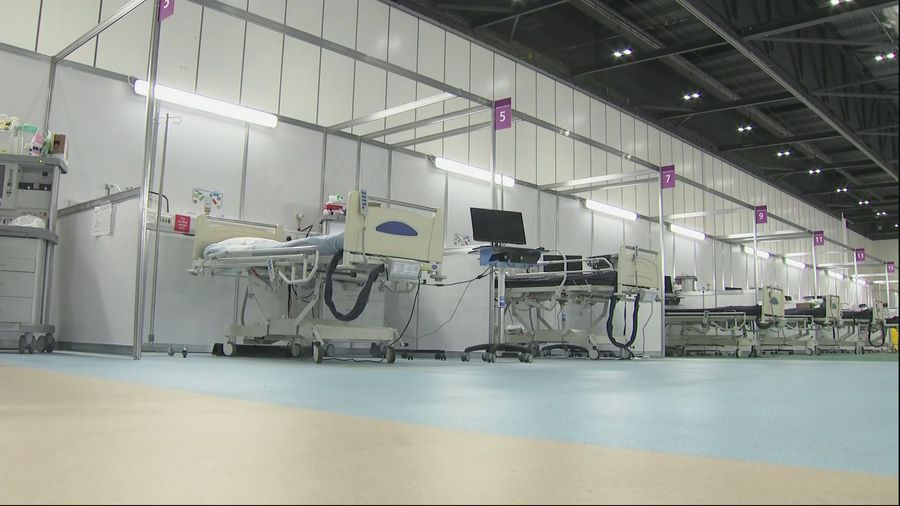 A look inside NHS Nightingale on opening day