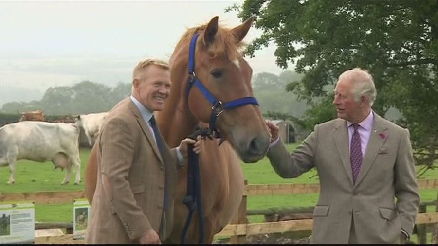 Prince Charles visits Adam Henson's Cotswold Farm Park