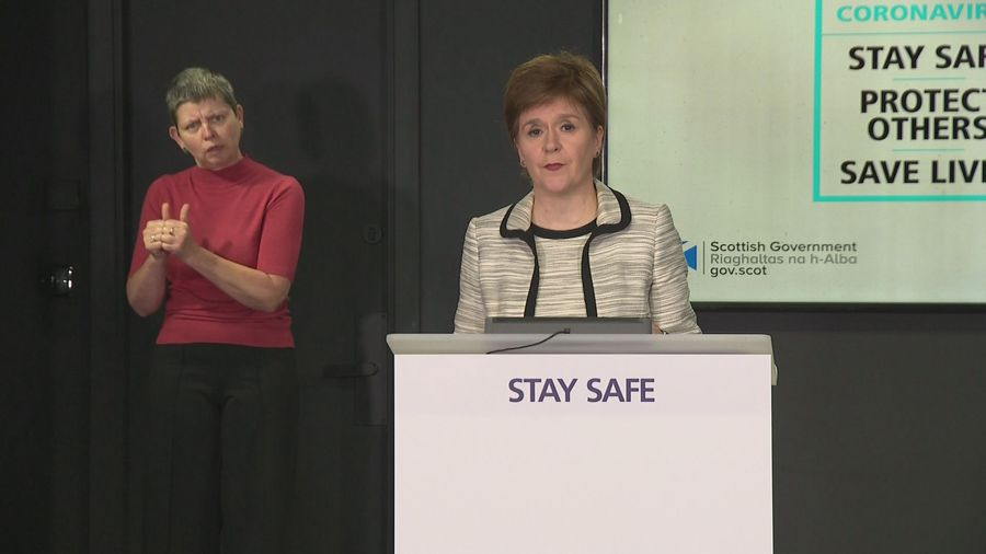 "Sturgeon accuses government of ""shambolic decision making"""