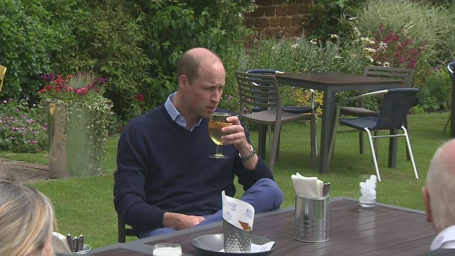 Duke of Cambridge enjoys first pint ahead of pub reopening