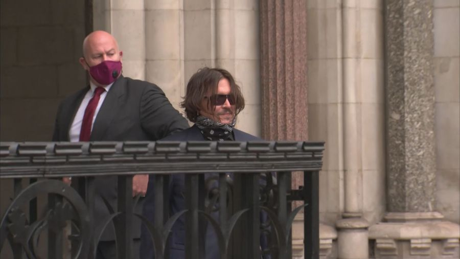 Johnny Depp and Amber Heard arrive for third day of hearing
