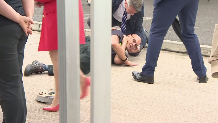 Man faints in front of Prince Charles
