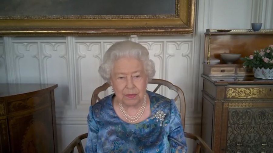 Queen Elizabeth video called with members of the Armed Force