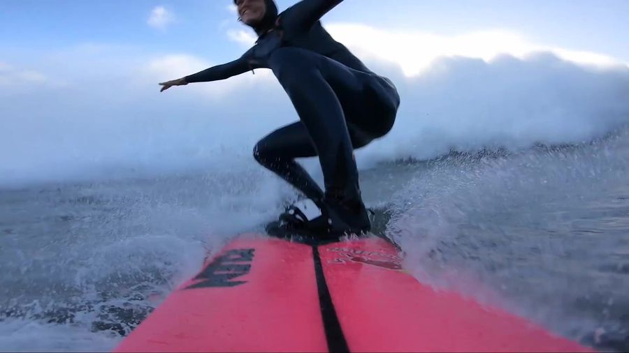 French surfer Dupont's record attempt wave