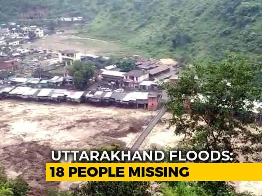 18 People Missing As Flood Washes Away 20 Houses In Uttarakhand