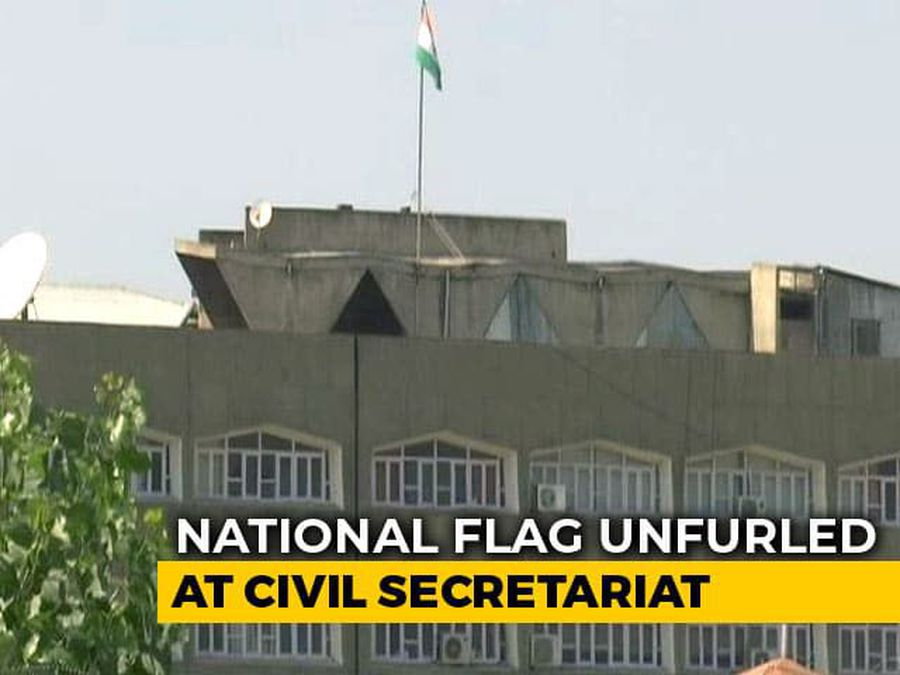 Jammu And Kashmir Flag Gone From Srinagar's Civil Secretariat