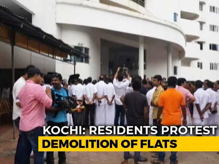 """""""Injustice"""": Residents Protest Demolition Of Buildings In Posh Kochi Area"""