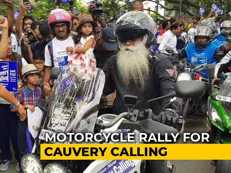 Sadhguru's Bike Rally For Awareness On Threat To River Cauvery