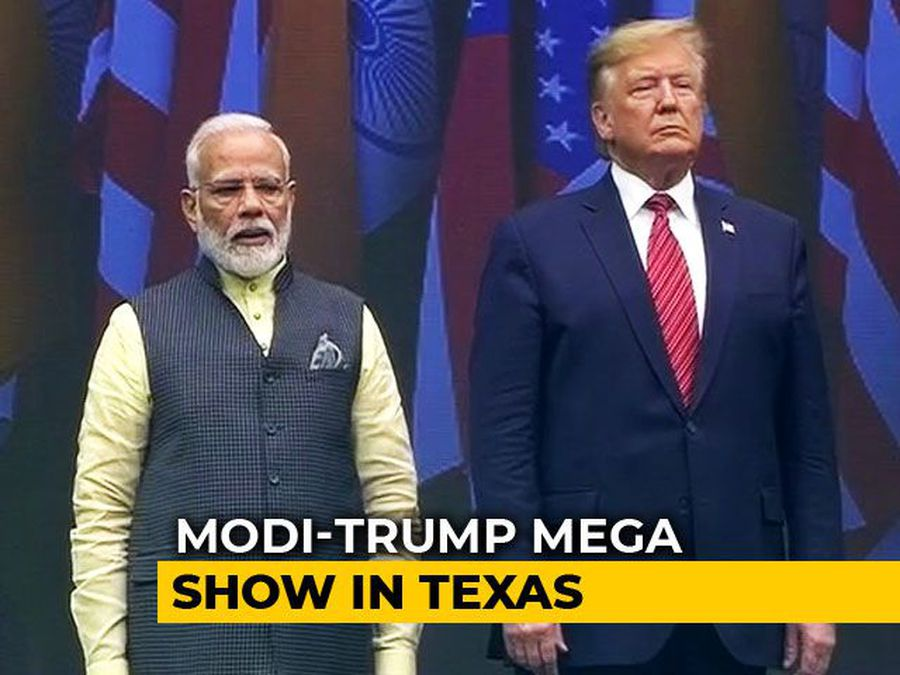 Donald Trump Arrives For Mega 'Howdy, Modi!' Show With PM