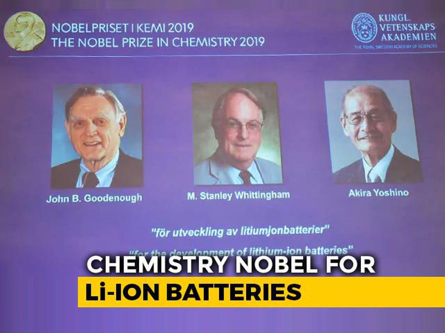 Nobel Prize In Chemistry Awarded For Development Of Lithium Ion Batteries