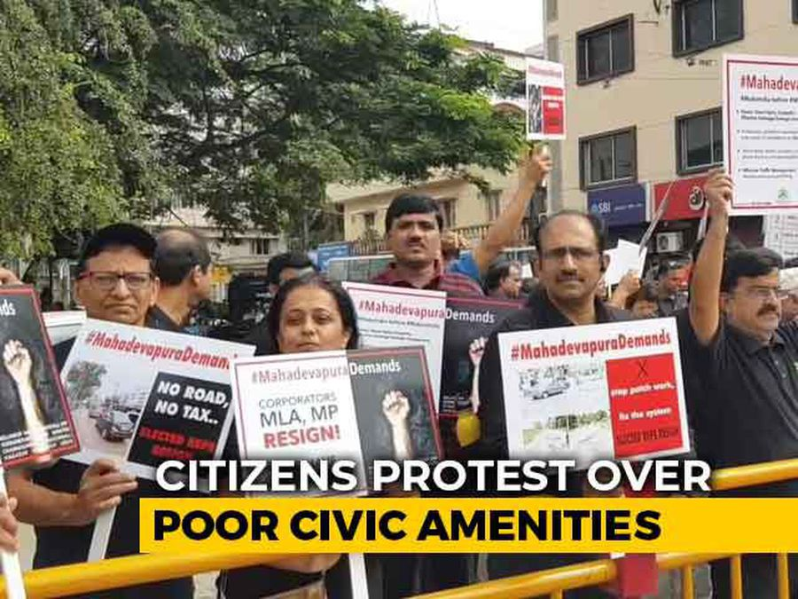 """""""Govern Or Resign"""": Angry Bengaluru Residents To Lawmakers Over Bad Roads"""