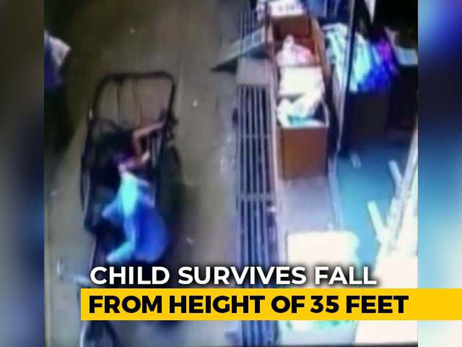 Watch: Three-Year-Old MP Boy Unhurt After 35-Foot Fall Into Rickshaw Seat