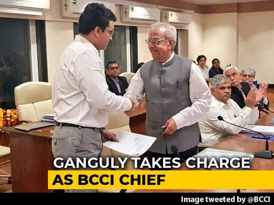 Sourav Ganguly, Former India Captain, Takes Over As BCCI President