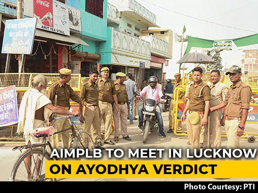 Muslim Board To Hold Review Meet On Ayodhya Order Today