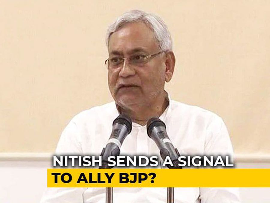 With Support To Challenger Of Raghubar Das, Nitish Kumar Sends A Signal
