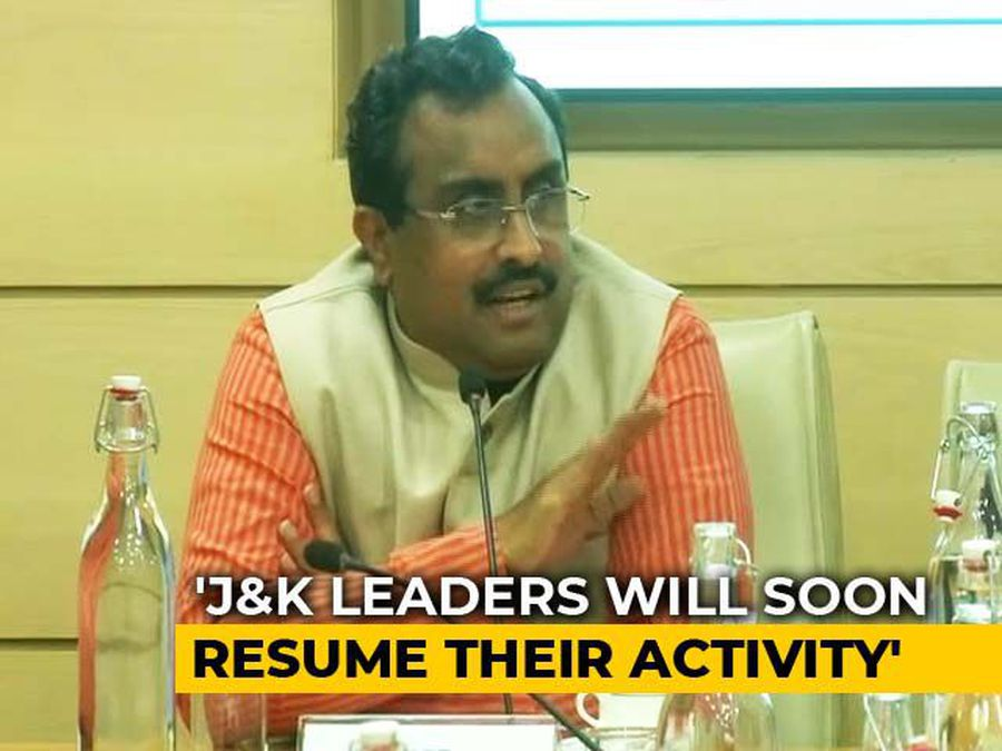 Political Engagements Should Resume In Kashmir Sooner Than Later: Ram Madhav