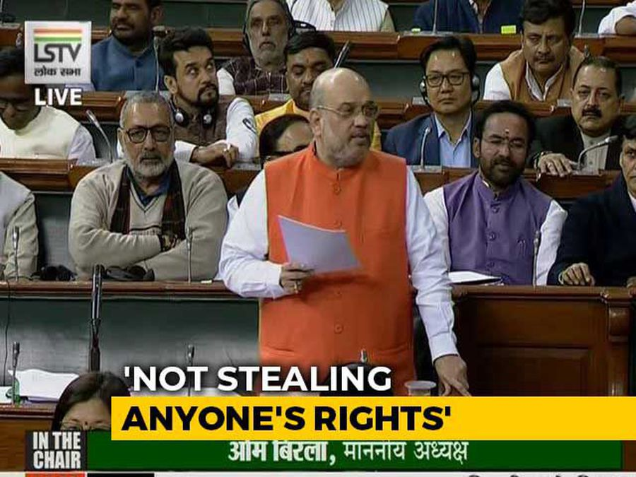 """Even Manmohan Singh ji..."": Amit Shah Defends Citizenship Bill In Lok Sabha"