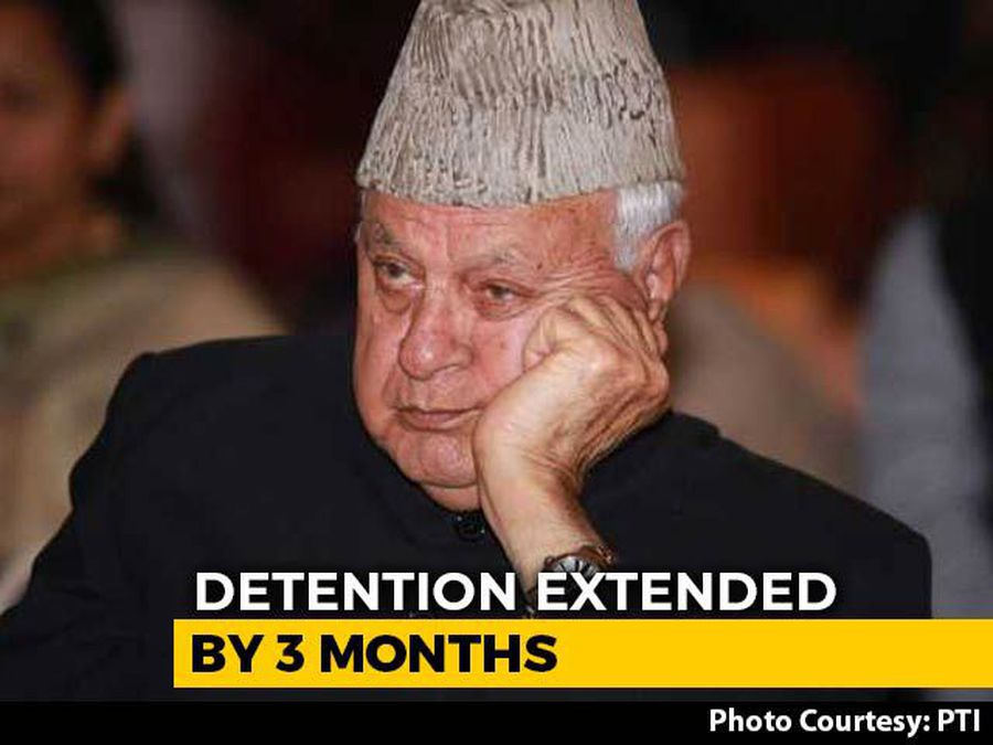 Farooq Abdullah's Detention Under Public Safety Act Extended For 3 Months