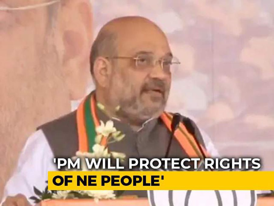 """Amit Shah's """"Stomach Ache"""" Jibe At Congress Amid Protests In Northeast"""