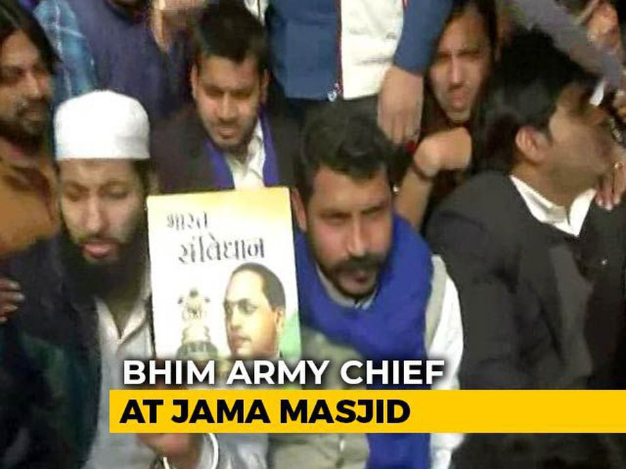 Bhim Army Chief Back At Jama Masjid Hours Before Deadline To Leave Delhi