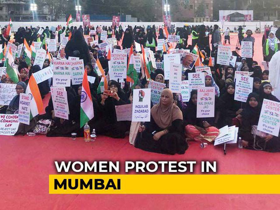 In Mumbai, Women Protest At Agripada Against CAA, NRC