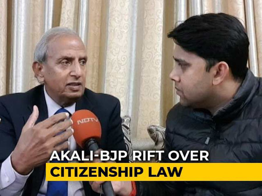 """Perhaps, BJP Thought..."": Akali Dal Leader On Rift With Ally Over Citizenship Law"