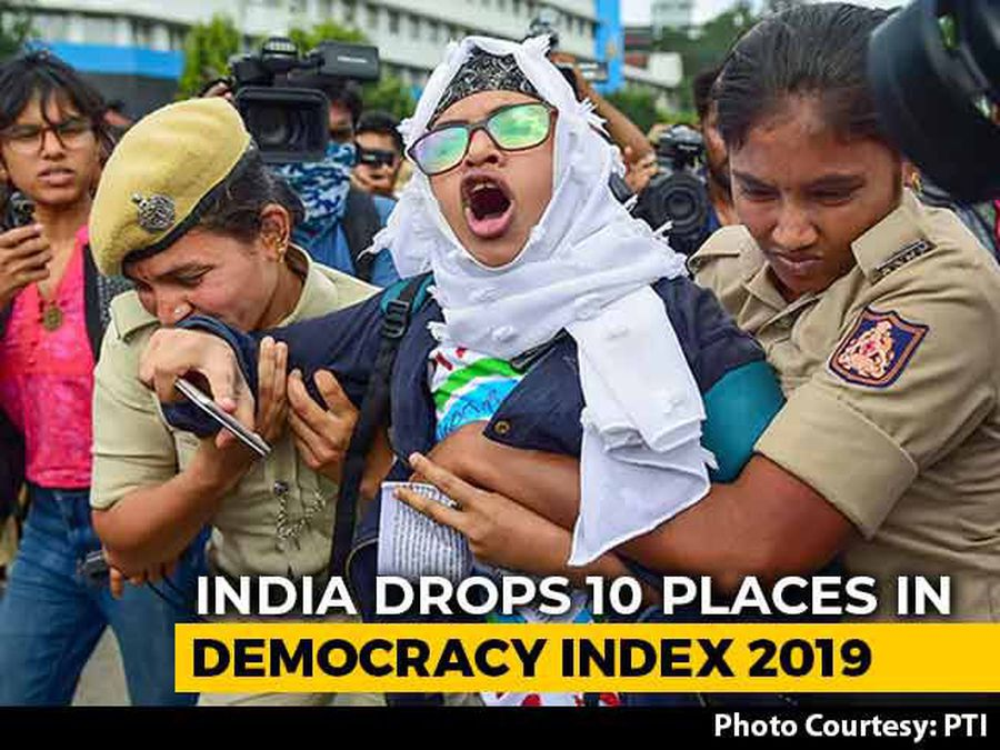 """Erosion Of Liberties"": India Slips 10 Places In Democracy Index 2019"