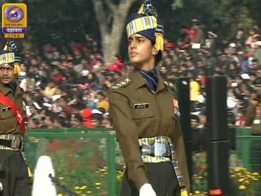 Captain Tania Sher Gill Leads All-Men Contingent In Republic Day Parade