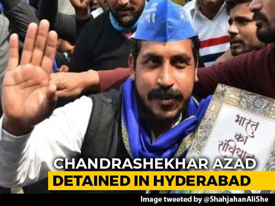 Bhim Army Chief Detained In Hyderabad Ahead Of Anti-CAA Protest