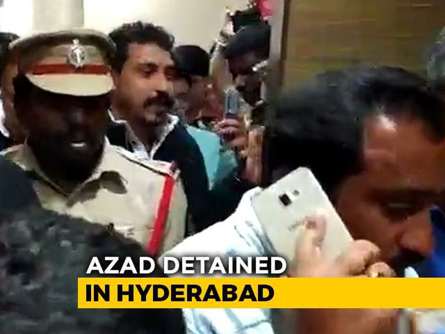 """""""Being Sent To Delhi"""": Bhim Army Chief Detained In Hyderabad"""