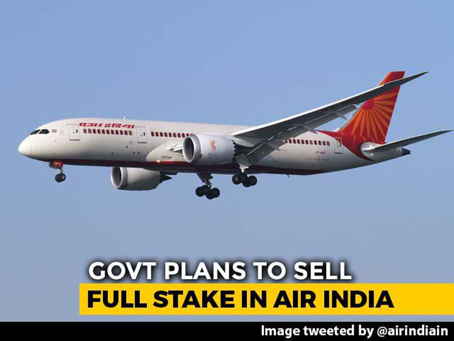 For 100% Sale Of Air India, March 17 Deadline For Bids
