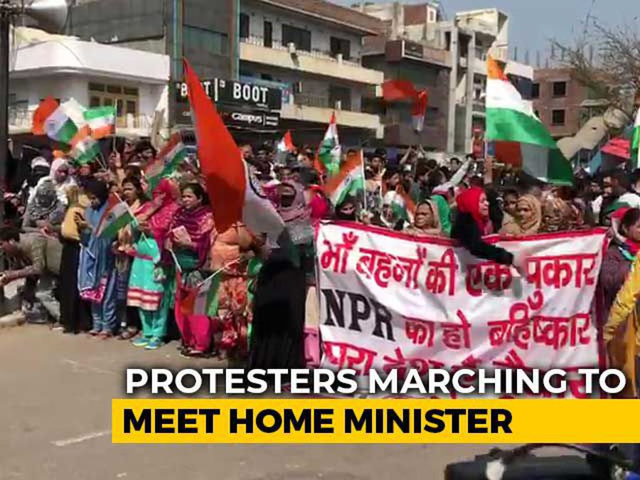Anti-CAA Protesters At Shaheen Bagh Begin March Towards Amit Shah House