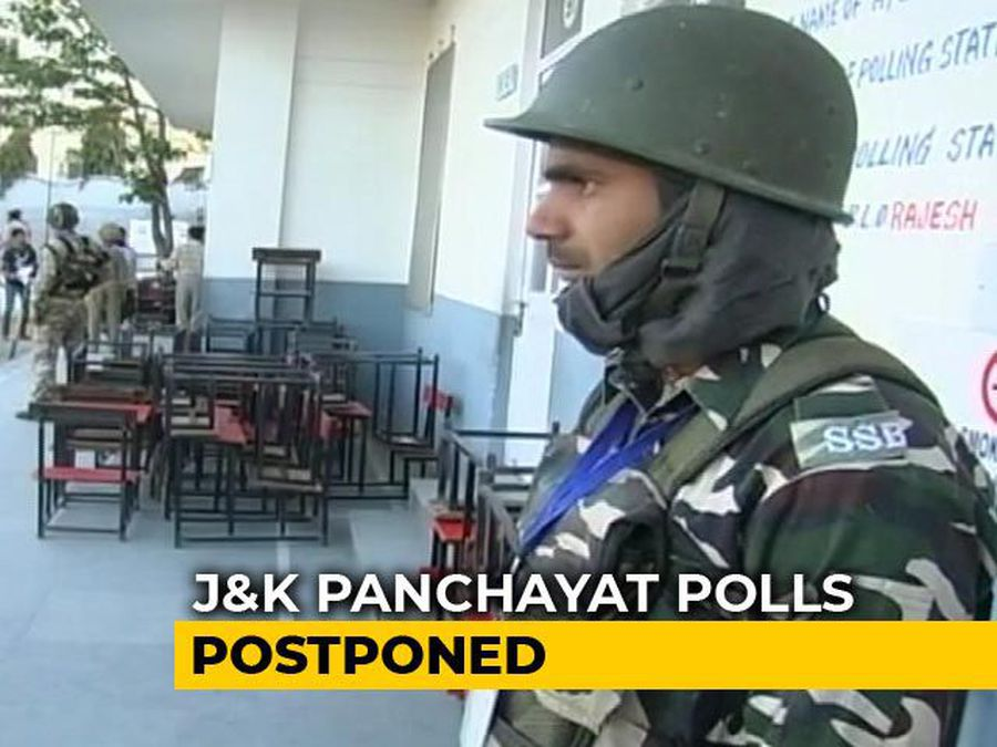 Jammu And Kashmir Panchayat Elections Postponed Over Law And Order Issues