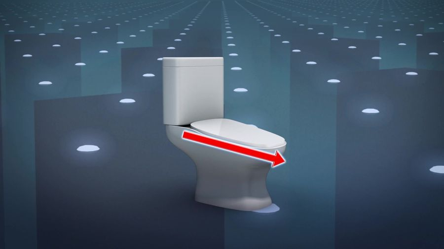 Sloped toilets proposed to reduce long bathroom breaks