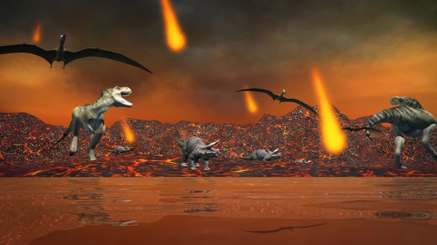 Volcanic climate change pre-asteroid impact may have contributed to dinosaur extinction