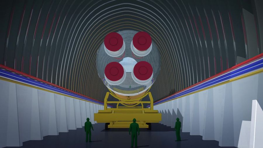 NASA rolls out space launch system booster for testing