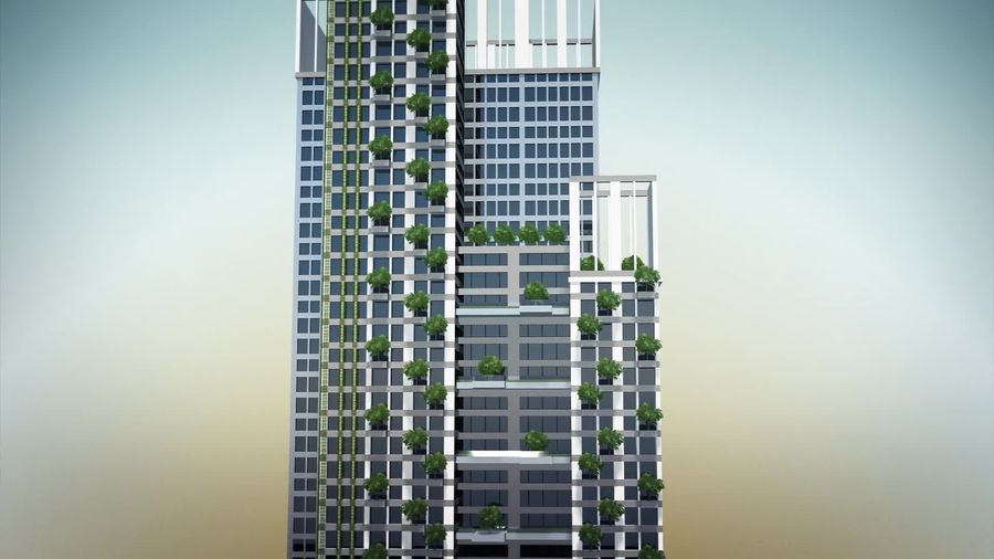 Sustainable green towers constructed in central Taiwan