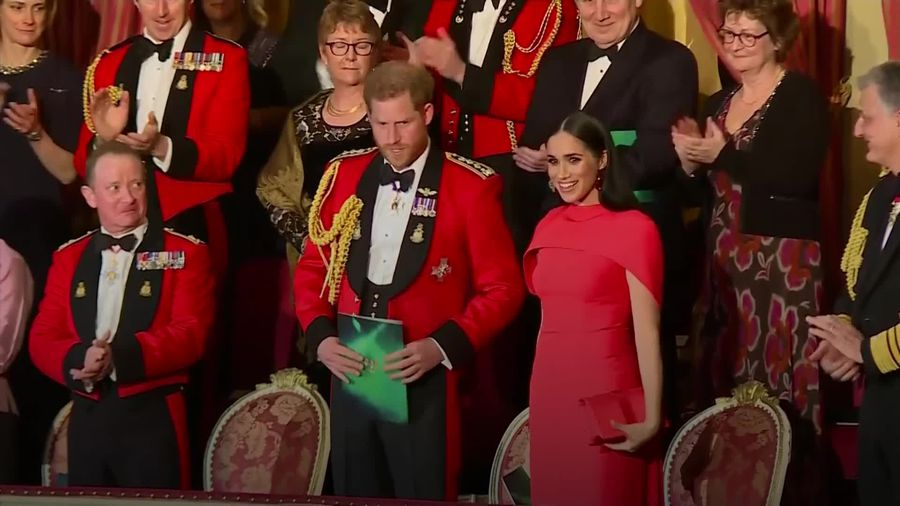 Harry and Meghan receive standing ovation at one of last events as Royals