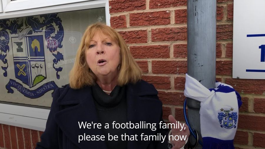 Woman chains herself to stand at Bury FC as club's future threatened