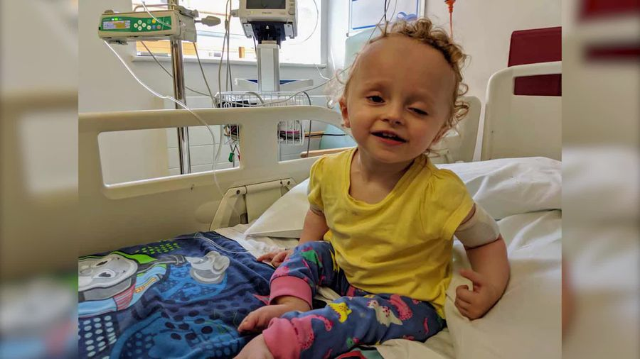 Parents' fundraising appeal for brittle-bone toddler