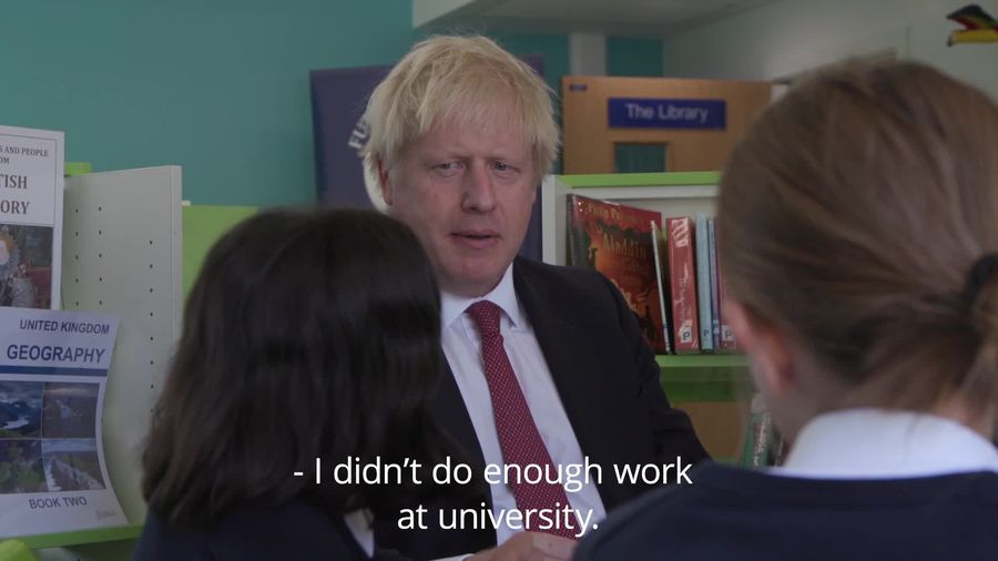 Boris Johnson visits school to launch Government education drive