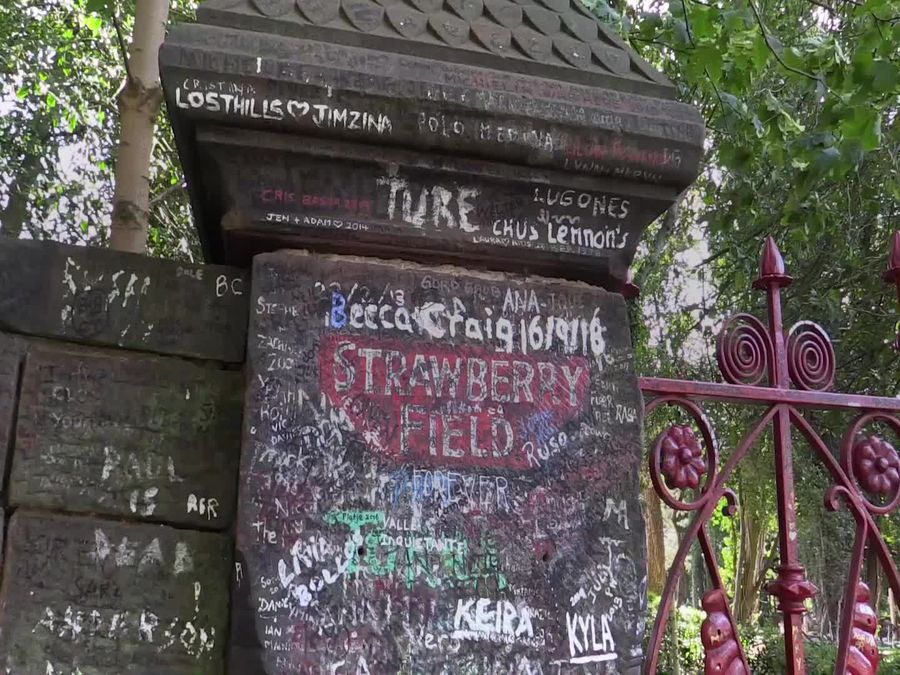 Beatles' Strawberry Fields opens to the public
