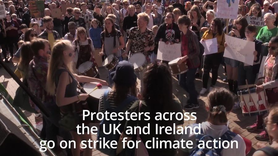 Protesters across the UK join global climate strike