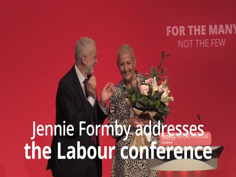 Jennie Formby makes emotional speech at Labour Party Conference