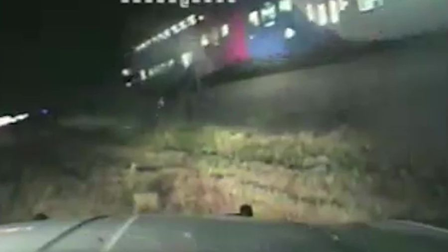Man rescued from being hit by train just in time