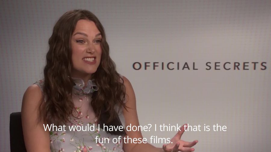 Keira Knightley on Official Secrets - 'Would I have done the same?'