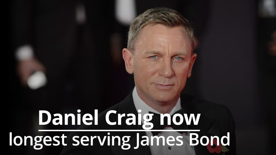 Daniel Craig now the longest serving James Bond